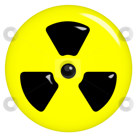3D Radioactive Symbol stock photo, 3d radioactive symbol isolated in white by Georgios Kollidas