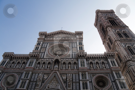 Facade of Florence Cathedral stock photo, Facade of Basilica di Santa Maria del Fiore by Kevin Tietz