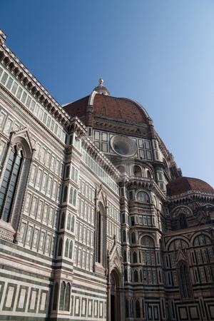 Santa Maria del Fiore stock photo, Marble facade of Santa Maria del Fiore of Italy by Kevin Tietz