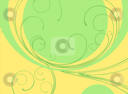 Abstract color background stock photo, Illustration drawing of beautiful green curves background by Su Li