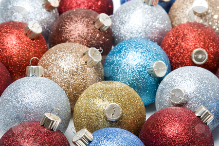 Christmas ornaments stock photo, A shot of various and colorful christmas ornaments by Suprijono Suharjoto