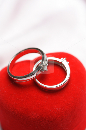 Wedding rings stock photo, A close up shots of a pair of wedding rings by Suprijono Suharjoto