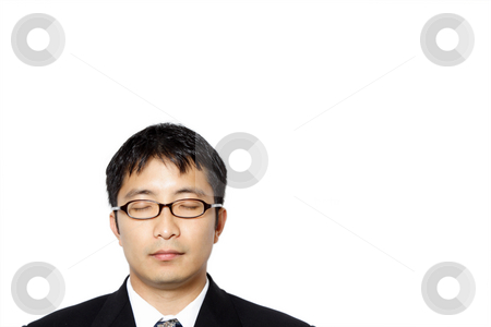 Businessman stock photo, Businessman with his eyes closed by Suprijono Suharjoto