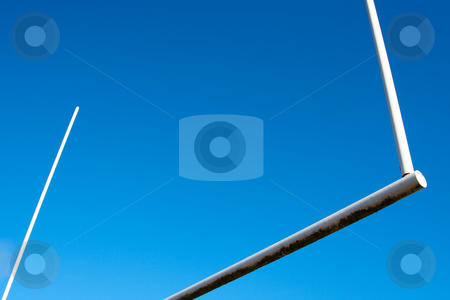 Football  stock photo, A shot of an american football goal post by Suprijono Suharjoto