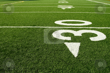 Football field stock photo, A shot of an american football field by Suprijono Suharjoto