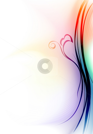 Colourful curve stock photo, Illustration drawing of beautiful colourful curve background by Su Li