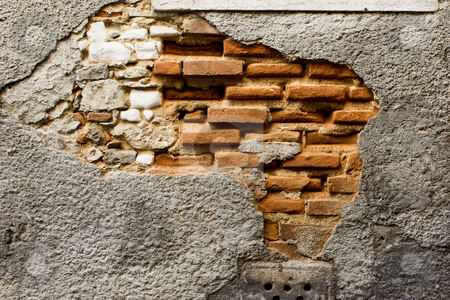 Old brick wall stock photo, Texture of an old brick wall - makes a great background by ikostudio