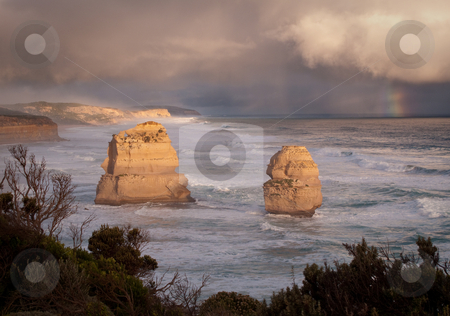 Twelve Apostles in Australia stock photo, Stormy skies over the Twelve Apostles off the coast of Australia by Steven Heap