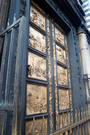 Gates of Paradise stock photo, The Gates of Paradise at the Duomo in Florence, by Lorenzo Ghiberti by Kevin Tietz