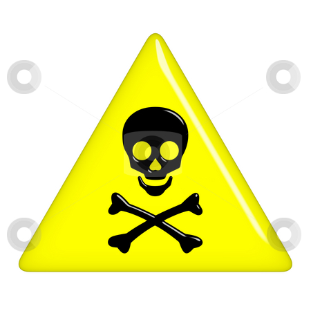 3D Death Sign stock photo, 3d death sign isolated in white by Georgios Kollidas