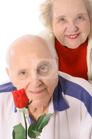 Happy elderly couple stock photo, Happy elderly couple by Andi Berger