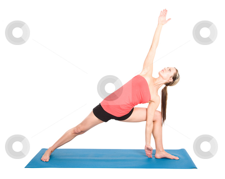Yoga woman stock photo, A shot of a caucasian woman practicing yoga by Suprijono Suharjoto