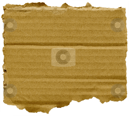 Torn square of cardboard, isolated on a white background. stock photo, Torn square of cardboard, isolated on a white background. by Stephen Rees