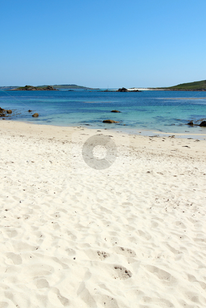 Rushy bay beach, Bryher Isles of Scilly. stock photo, Rushy bay beach, Bryher Isles of Scilly. by Stephen Rees