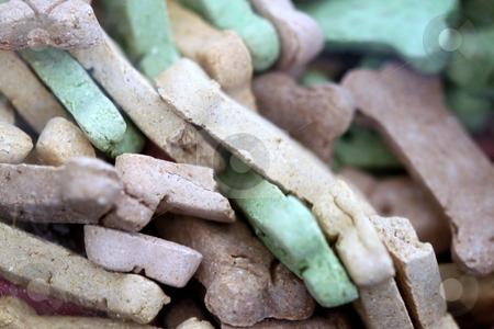 Dog Treats stock photo, Dog treats snack biscuits close up for background image by Henrik Lehnerer