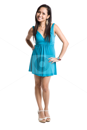 Beautiful asian woman stock photo, An isolated shot of a beautiful asian woman by Suprijono Suharjoto