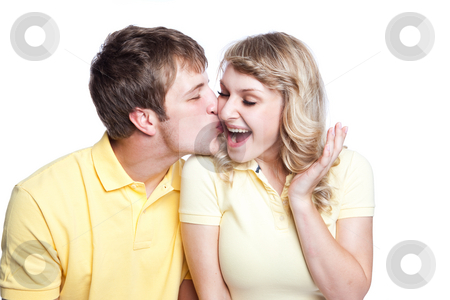 Couple in love stock photo, A portrait of a beautiful caucasian couple in love by Suprijono Suharjoto