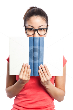 Beautiful college student stock photo, An isolated shot of a beautiful black college student by Suprijono Suharjoto