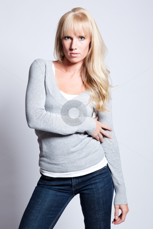 Beautiful woman stock photo, A portrait of a beautiful caucasian woman by Suprijono Suharjoto