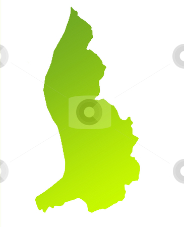 Liechtenstein stock photo, Green gradient map of Liechtenstein isolated on a white background. by Martin Crowdy