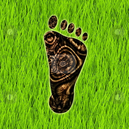 Carbon Footprint stock photo, Carbon Footprint Reduction as a Concept Art by Kheng Ho Toh