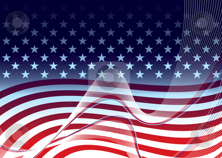 American background concept stock vector clipart, American abstract stars and stripes background concept illustration by Michael Travers