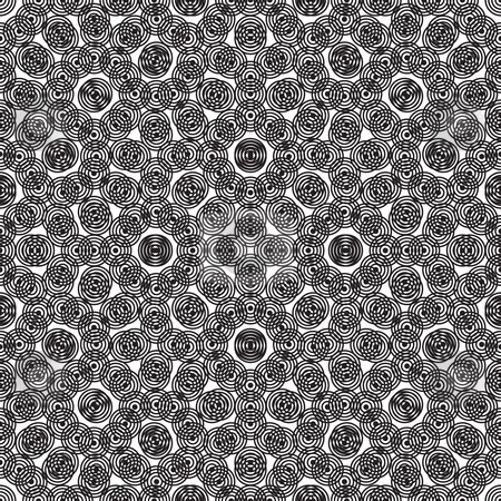 Circular seamless repeat abstract stock vector clipart, Abstract black and white circular background pattern illustrated by Michael Travers