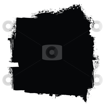 Roller black concept stock vector clipart, Grunge black roller marks with ink effect background by Michael Travers