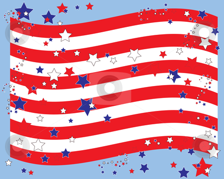 Stars and stripes border Vector Illustration - Download illustration