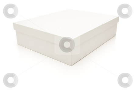 White Box with Lid Isolated on Background stock photo, White Box with Lid Isolated on a White Background. by Andy Dean