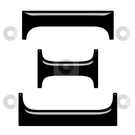 3D Greek Letter Xi stock photo, 3d Greek letter Xi isolated in white ...