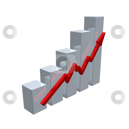 Chart stock photo, Business chart on white background - 3d illustration by J?