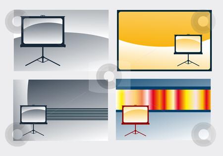 Presentation stock vector clipart, Various background illustrations - presentation board by J?