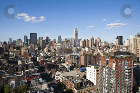 New york city skyline stock photo new york cityscape with apartments