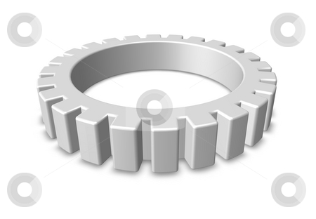 Gear wheel stock photo, Gear wheel on white background - 3d illustration by J?