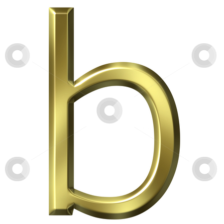 3d golden letter b stock photo, 3d golden letter b isolated in white by Georgios Kollidas