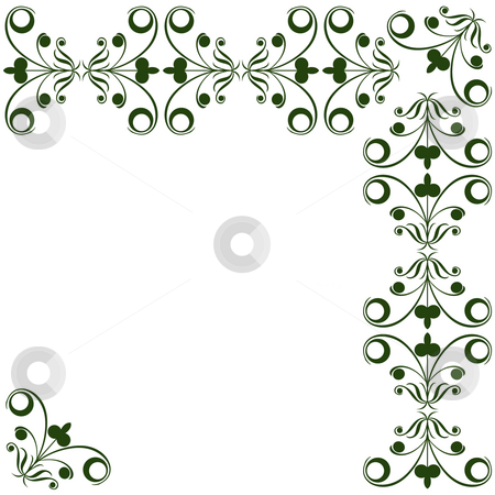 Floral elements stock photo, Decorative corner design with stylized floral elements by Richard Laschon