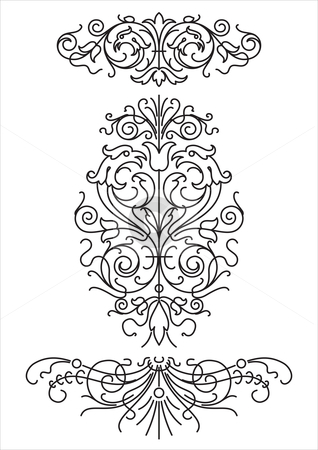 Floral ornaments (vector) stock vector clipart,  by Mila Petkova