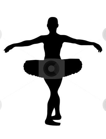 Ballerina stock vector clipart, Ballerina silhouette isolated on white background by Ioana Martalogu