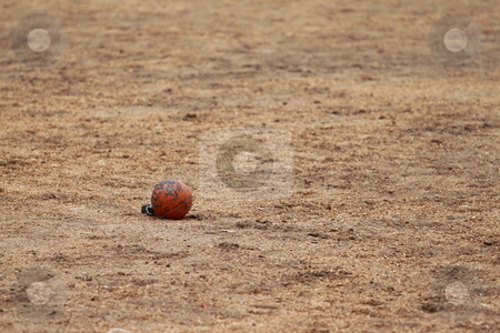 Metal Ball stock photo, Metal ball been thrown in a competition by Henrik Lehnerer
