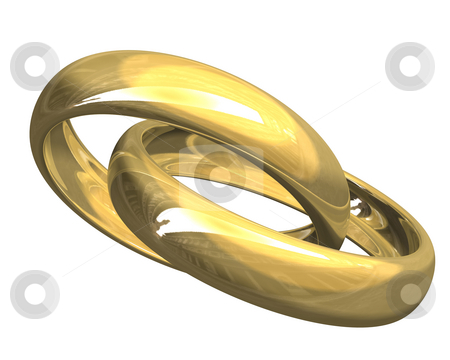 Wedding rings in gold (3D)  stock photo, Wedding rings in gold (3D made) by Fabrizio Zanier