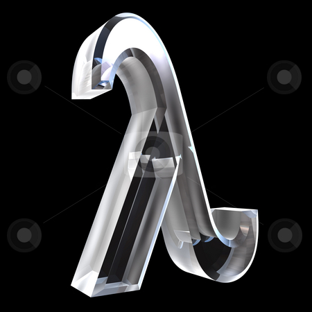 Lambda symbol in glass (3d)  stock photo, Lambda symbol in glass (3d made) by Fabrizio Zanier