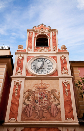 Clock Tower in city Loano, Liguria, Italy  stock photo, Clock Tower in city Loano, Liguria, Italy by Fabrizio Zanier