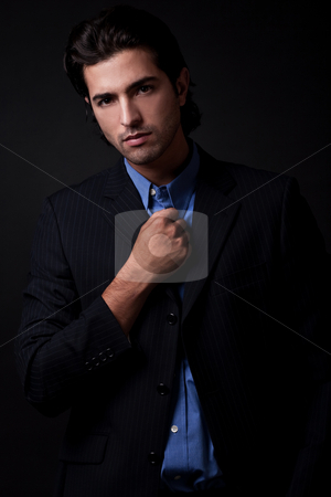 Young businessman stock photo, Portrait of young business man wearing blazers by Get4net 