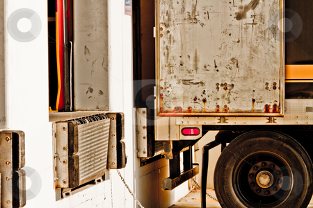 Loading dock stock photo, Commercial truck at loading dock to be loaded by Jaminson Moses