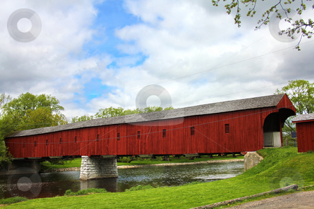 West Montrose covered bridge stock photo, West Montrose covered bridge by Michiel De Wit