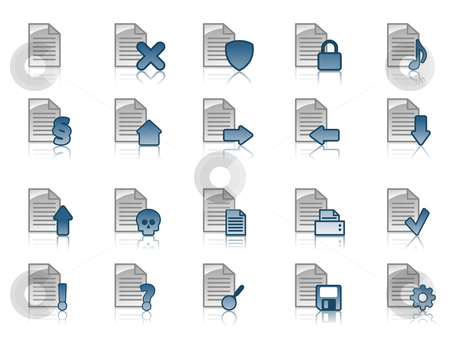 Document icon set stock vector clipart, Collection of document icons by J?
