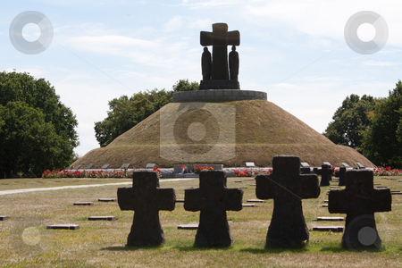 German cemetery stock photo, German cemetery at la cambe , normandy by Koen Adriaenssen