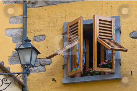 Window stock photo, Opened window in Tuscany / Italy by Andre Janssen
