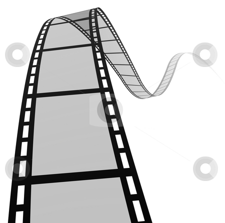 3d film spiral stock photo, High quality filmstrip 3D render. Great for cinema concept. by Tutku Tetik